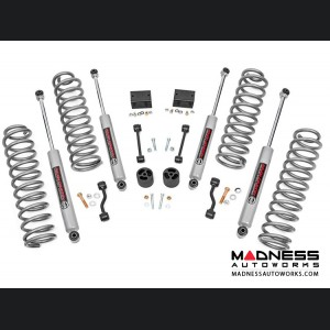 "Jeep Wrangler JL Rubicon Suspension Lift Kit w/Lifted Coil Springs - 2.5"" Lift"